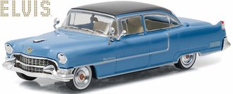1:43 Elvis Presley - 1955 Cadillac Fleetwood Series 60 (Blue w/Black Roof)