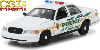 """1:43 CSI: Miami (2002-2012 TV Series) - 2003 Ford Crown Victoria """"Miami-Dade Police"""""""