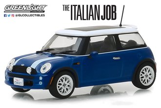 "1:43 2003 Mini Cooper S ""The Italian Job (2003)"" (Blue w/White Stripes)"