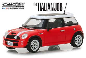 "1:43 2003 Mini Cooper S ""The Italian Job (2003)"" (Red w/White Stripes)"