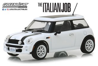 "1:43 2003 Mini Cooper S ""The Italian Job (2003)"" (White w/Black Stripes)"