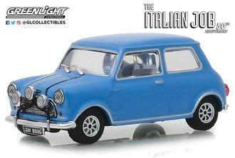 "1:43 1967 Mini Cooper S 1275 Mk1 ""The Italian Job (1969)"" (Blue w/Black Leather Straps)"