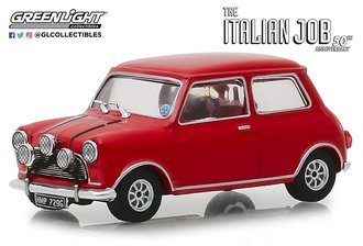 """1:43 1967 Mini Cooper S 1275 Mk1 """"The Italian Job (1969)"""" (Red w/Black Leather Straps)"""