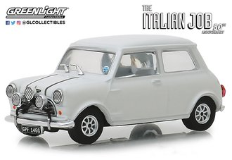 "1:43 1967 Mini Cooper S 1275 Mk1 ""The Italian Job (1969)"" (White w/Black Leather Straps)"