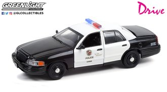 1:43 Drive (2011) - 2001 Ford CV Police Interceptor - Los Angeles Police Department (LAPD)