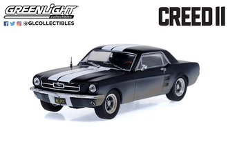 1:43 Creed II Adonis Creed's 1967 Ford Mustang Coupe (Matte Black w/White Stripes) (Weathered)