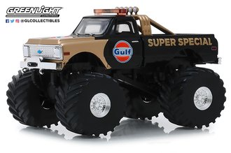1:43 Kings of Crunch - Gulf Oil Super Special - 1971 Chevrolet K-10 Monster Truck w/66-Inch Tires