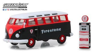 """1:64 The Hobby Shop Series 6 - 1964 Volkswagen Samba Bus """"Firestone"""" w/Firestone Gas Pump"""