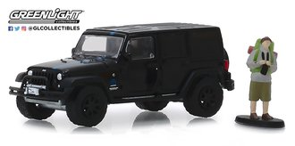 1:64 The Hobby Shop Series 7 - 2012 Jeep Wrangler Unlimited MOPAR Off-Road Edition w/Backpacker