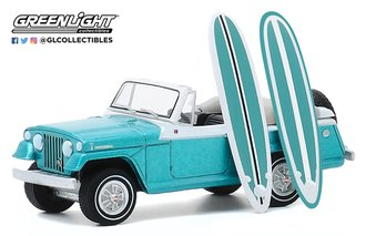 1:64 The Hobby Shop Series 9 - 1968 Kaiser Jeep Jeepster w/Surfboards