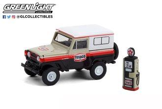 "1:64 The Hobby Shop Series 10 - 1967 Nissan Patrol ""Texaco with Vintage Texaco Gas Pump"""