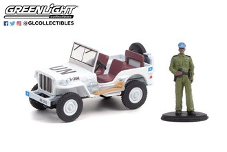 1:64 The Hobby Shop Series - 1942 Willys MB Jeep - United Nations w/United Nations Security Officer