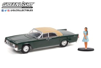 1:64 The Hobby Shop Series - 1965 Lincoln Continental Convertible w/Woman in a Dress - Spanish Moss