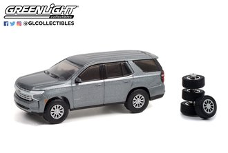 1:64 The Hobby Shop Series 11 - 2021 Chevrolet Tahoe with Spare Tires - Satin Steel Metallic