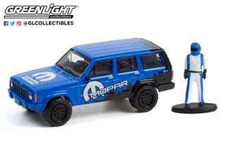 1:64 The Hobby Shop Series 12 - 2001 Jeep Cherokee Sport MOPAR Off-Road w/Race Car Driver