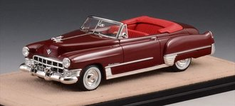 1:43 1949 Cadillac Series 62 Convertible Open Top (Maroon)