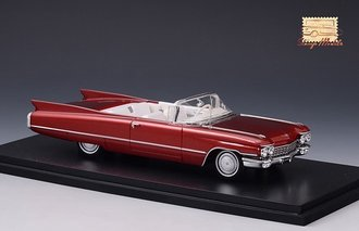 1960 Cadillac Series 62 Convertible Open Top (Maroon Metallic)