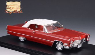 1968 Cadillac Deville Convertible Closed Top (Dakota Red)