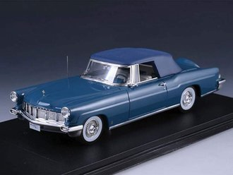 1956 Lincoln Continental Mark II Convertible (Closed Top) (Blue)
