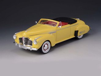 1:43 1941 Buick Roadmaster Convertible (Open Top) (Yellow)
