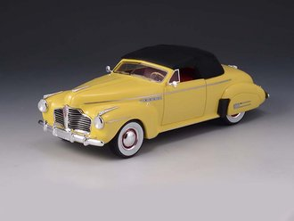 1:43 1941 Buick Roadmaster Convertible (Closed Top) (Yellow)