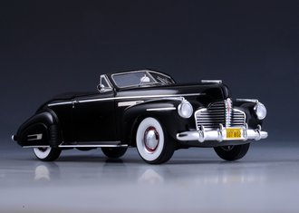 1:43 1941 Buick Roadmaster Convertible (Open Top) (Black)