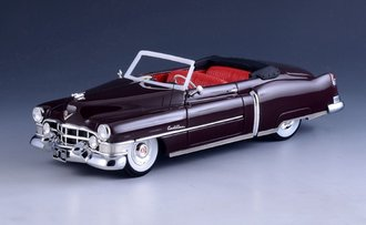 1:43 1951 Cadillac Series 62 Convertible (Open Top) (Bolero Maroon)
