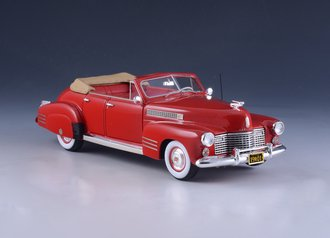 1:43 1941 Cadillac Series 62 Convertible (Open Top) (Red)