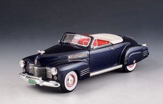 1:43 1941 Cadillac Series 62 Convertible - Open Top (Dark Blue Metallic)