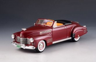 1:43 1941 Cadillac Series 62 Convertible - Open Top (Red Metallic)