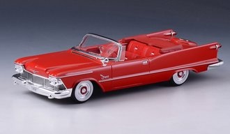 1958 Chrysler Imperial Crown Convertible Open Top (Red)