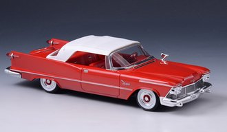 1958 Chrysler Imperial Crown Convertible Closed Top (Red)