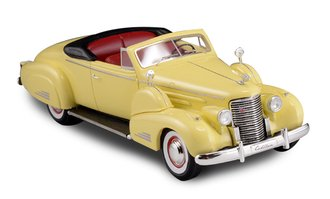 1:43 1938 Cadillac V16 Convertible Coupe (Open Top) (Yellow)