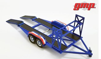 "1:43 Tandem Car Trailer w/Tire Rack ""MOPAR"""