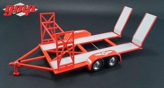 """1:43 Tandem Car Trailer with Tire Rack """"Texaco"""""""