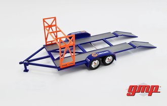 "1:43 Tandem Car Trailer with Tire Rack ""Union 76"""