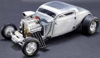 1:18 1934 Blown Altered Coupe (Raw Steel)