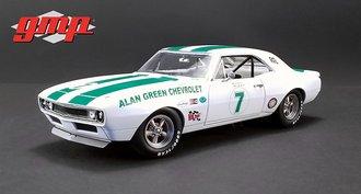 "1:18 1967 Chevy Camaro Z/28 ""Alan Green Chevrolet #7-G.Gove, M.Donohue, S.Scott & M.Dudley"""