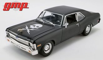 1:18 1971 Chevrolet Nova - Matte Black (As Driven in the Horror Film Death Proof)