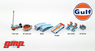 "1:18 Shop Tool Set #2 ""Gulf Oil"""