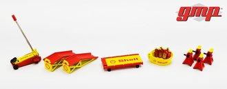 "1:18 GMP Shop Tool Set #2 ""Shell Oil"""