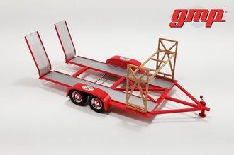 """1:18 Tandem Car Trailer """"Busted Knuckle Garage"""""""