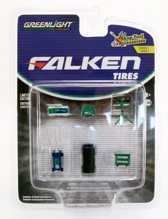 Chase 1:64 Auto Body Shop - Shop Tool Accessories Series 3 - Falken Tires