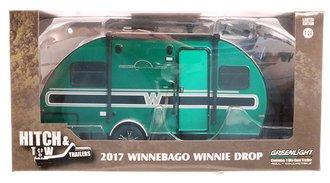 Chase 1:24 2017 Winnebago Winnie Drop Trailer *** GREEN Body ***