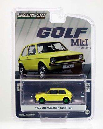 """Chase 1:64 1974 Volkswagen Golf Mk1 """"45th Anniversary"""""""