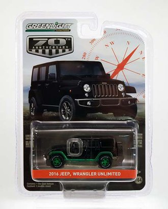"""Chase 1:64 2016 Jeep Wrangler Unlimited """"75th Anniversary Edition"""""""