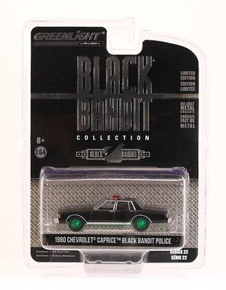Chase 1:64 Black Bandit Series 22 - 1980 Chevrolet Caprice Black Bandit Police