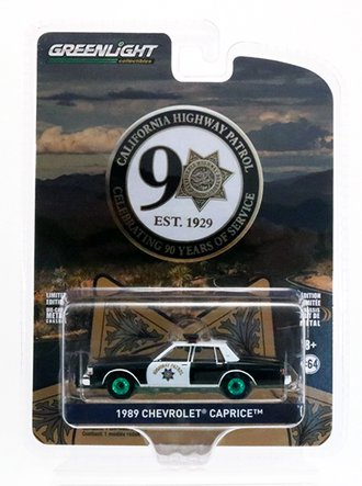 "Chase 1:64 1989 Chevrolet Caprice Police ""California Highway Patrol 90th Anniversary"""