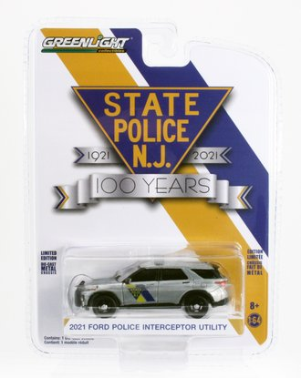 Chase 1:64 2021 Ford PI Utility - New Jersey State Police 100th Anniv. *** RAW Body ***