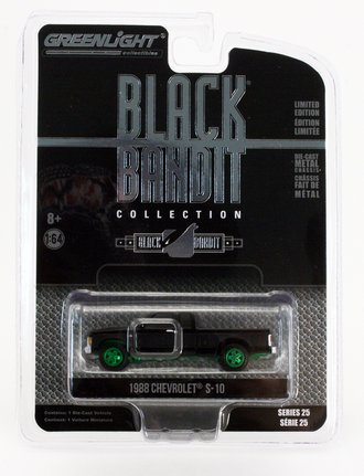 Chase 1:64 Black Bandit Series 25 - 1988 Chevrolet S-10 Extended Cab